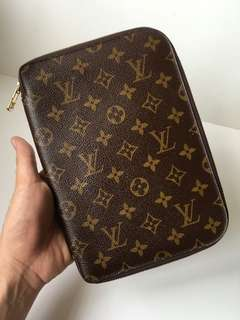 Authentic Louis Vuitton Classic Monogram Organizer