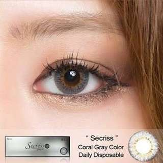 O-Lens Secriss 1 Day Contact Lens Coral Gray in -2.50