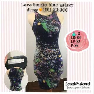 Love bonito blue galaxy dress