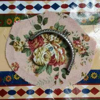 【LittleBજ雜貨】*8.5cm 古典玫瑰花 粉紅系 口金材料包