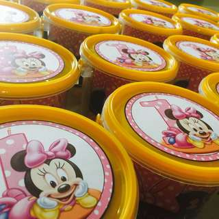 Minnie Mouse Themed Goodie Bucket