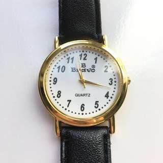 B Bravo Vintage Classic Quartz Watch 45 mm