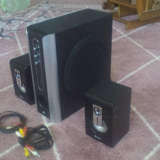 立體擴音機-3音路喇叭