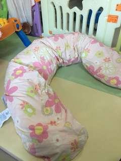 二手德國Theraline 月亮枕 孕婦枕 哺乳枕 側睡枕