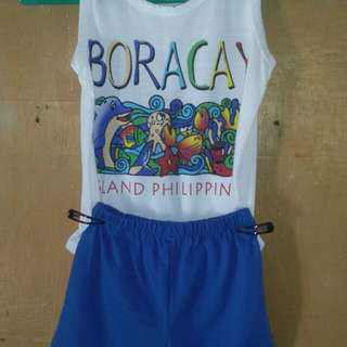 Set boys sando+short