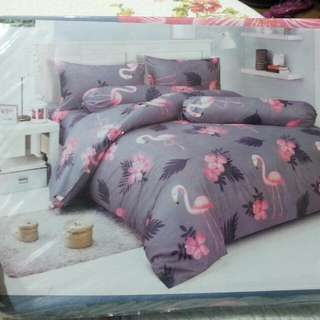 flamingo&flower bed set