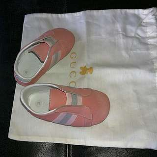 ORIGINAL GUCCI BABY SHOES PEACH