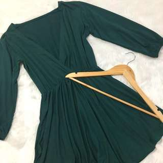 Overlap Long Sleeve Dress