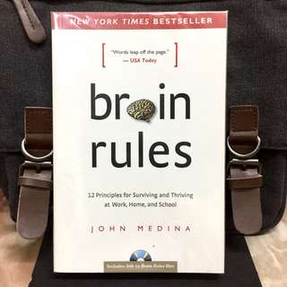 # Highly Recommended《New Book Condition + How To Maximize Brain Power For Healthy & Happy Life》John Medina - BRAIN RULES : 12 Principles for Surviving and Thriving at Work, Home and School
