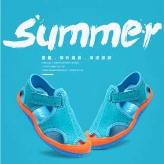現貨今夏最時尚最潮流舒適女童涼鞋男童涼鞋沙灘鞋休閒鞋帆布鞋運動鞋29-35號