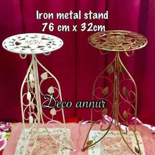 Iron metal stand