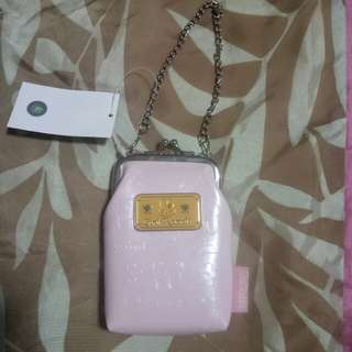 Pink small purse with chain