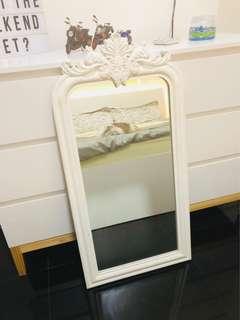 White Victorian Mirror