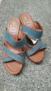 Shoebox denim sandal