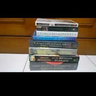 PAKET 8 NOVEL IMPORT (hardcover dan softcover)