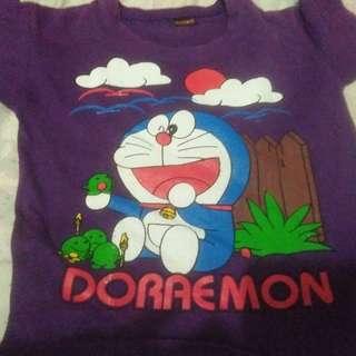Kaos ungu doraemon