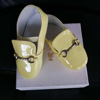 Yellow GUCCI BABY SHOES