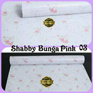 Wallpaper Sticker Shabby Flower Pink 45cmx10m