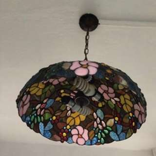 Pendant Light Width 18 inch and high 28 inch glass shade