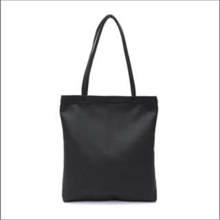 BN High Quality Black Tote Bag with Zipper