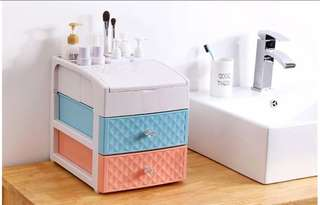 Colourful Cosmetic Storage Box with 2 layers