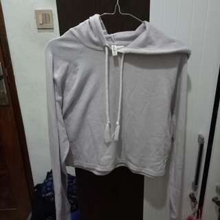 divided crop hoodie h&m murah sweater