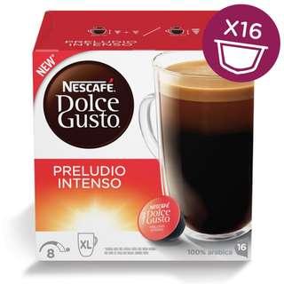 全新 NESCAFÉ 雀巢咖啡膠囊 Dolce Gusto - 美式濃烈晨光咖啡膠囊 Preludio intenso