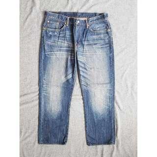 36腰 Levis 502 Straight 自然水洗刷色 經典直筒 牛仔褲 二手 長褲 工作褲 休閒褲