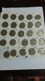 Old Coins 50sen.