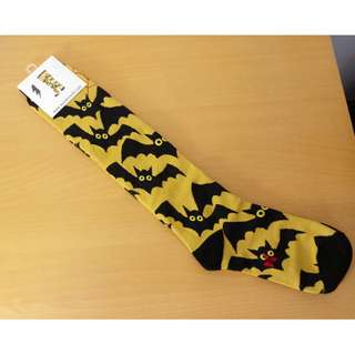 【韓國品牌】wonder socks 3D長版棉襪-蝙蝠