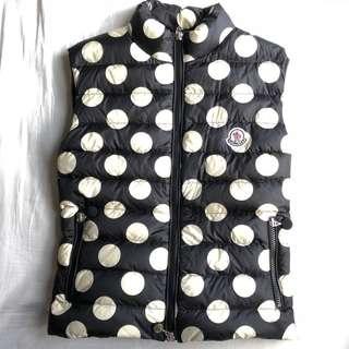 Moncler Polka Dots Pleated Vest