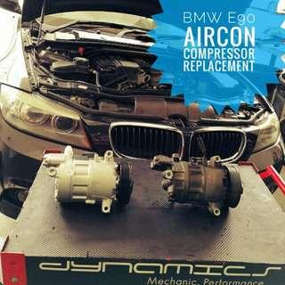 BMW E90 : AirCon Compressor Replacement