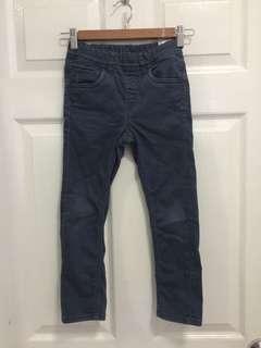 Uniqlo Dark Blue Garterized Jeans - Small
