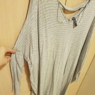 Stripes grey 3/4 dress