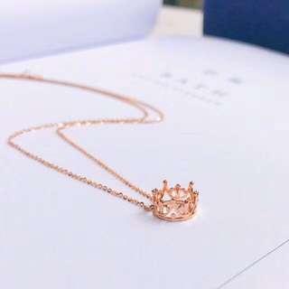 皇冠設計👑18k金頸鏈防敏不掉色🎁全新生日禮物推薦
