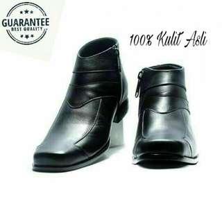 Sepatu pantofel pria kulit asli