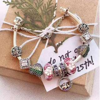 925 SILVER PANDORA BANGLE with CHARMS
