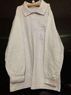 school long sleeve sport polo tshirt 2 pcs