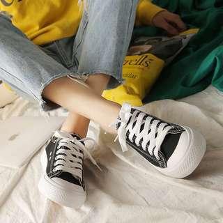 卡哇伊糖果色帆布鞋