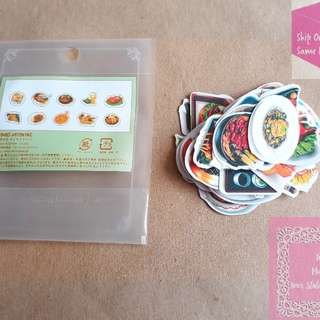 《READY STOCK》28pcs Korean Food Loose Sticker Pack