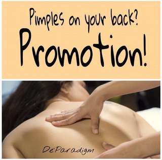 BACK TREATMENT ON PROMO