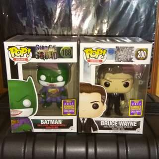 (ON HAND) Batman Joker Bruce Wayne DC Funko Pop Bundle