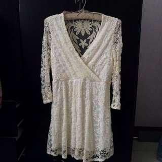 Charlotte Russe Lace+Knit Dress