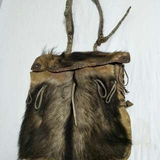 Tibet Leather  yak fur Bag