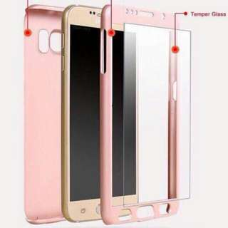 front and back cover with glass protector samsung and iphone