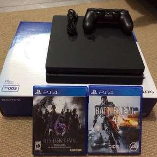 Jual Play Station 4 Slim 500GB Jet Black (PS 4) (PlayStation)