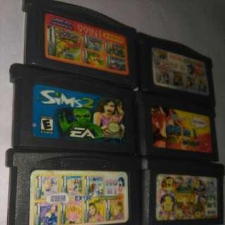 Paket 6 Kaset Gameboy Gba Sp Habis Batere