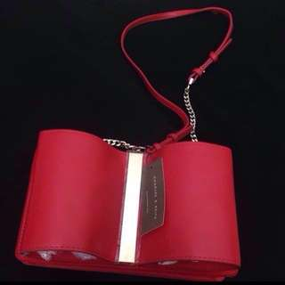 Charles & Keith Original Red Bow Bag / Slingbag / Tas