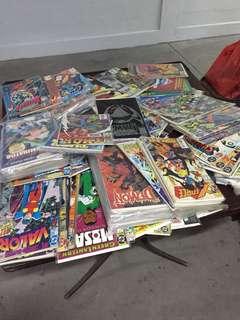 One lot of comic books