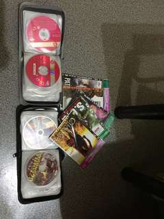 Cd bags and cd's with movies